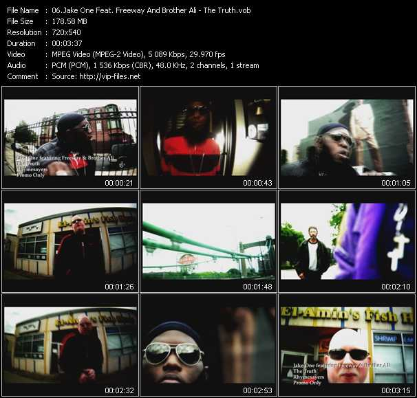 Jake One Feat. Freeway And Brother Ali HQ Videoclip «The Truth»