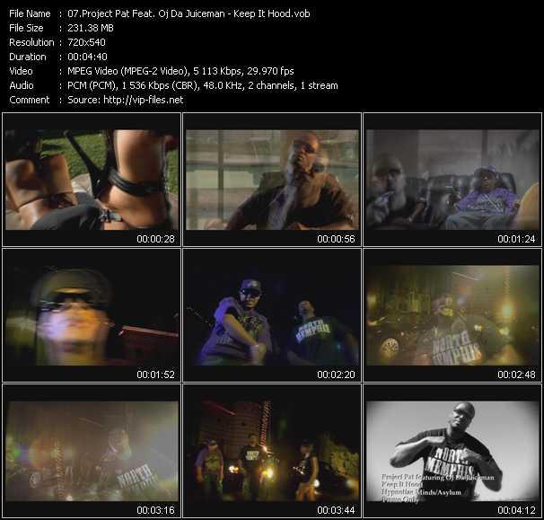 Project Pat Feat. Oj Da Juiceman HQ Videoclip «Keep It Hood»