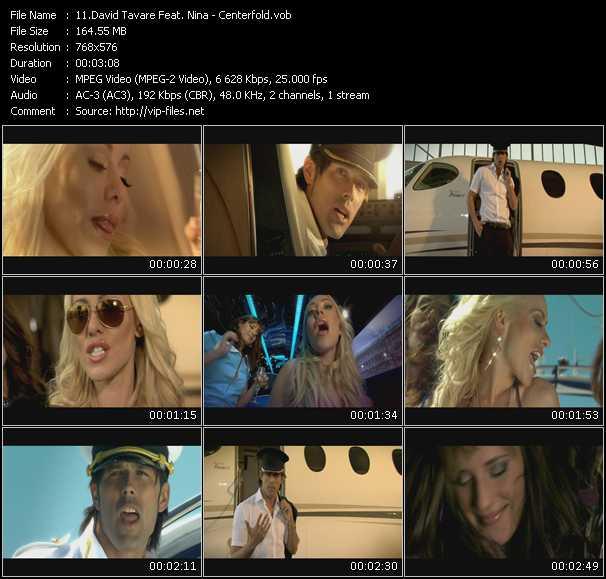David Tavare Feat. Nina HQ Videoclip «Centerfold»