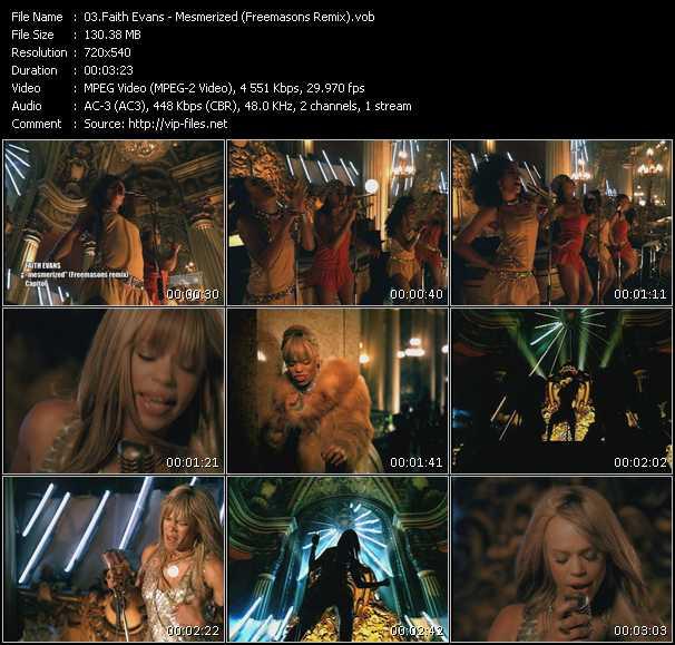 Faith Evans video - Mesmerized (Freemasons Remix)