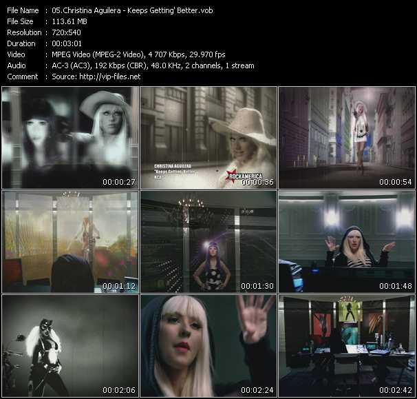 Christina Aguilera HQ Videoclip «Keeps Getting' Better»