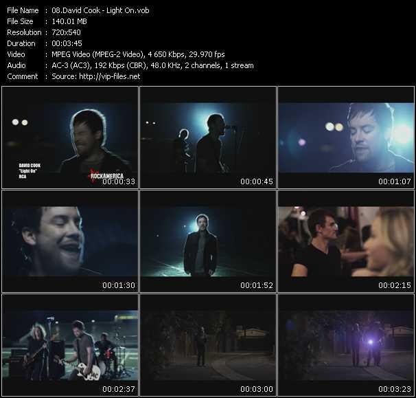 David Cook HQ Videoclip «Light On»