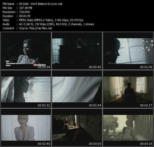 Dido HQ Videoclip «Don't Believe In Love»