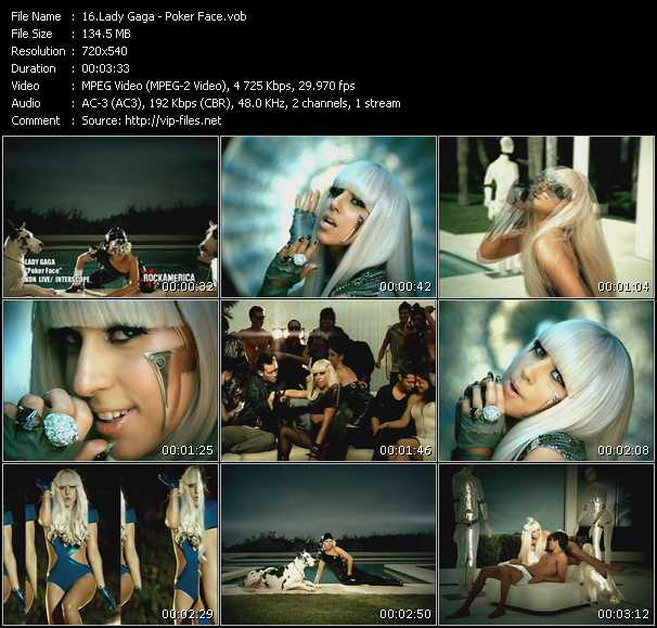Lady Gaga HQ Videoclip «Poker Face»