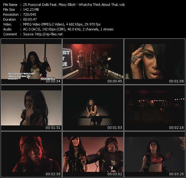 Pussycat Dolls Feat. Missy Elliott HQ Videoclip «Whatcha Think About That»