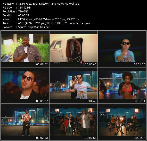 Mj Feat. Sean Kingston HQ Videoclip «She Makes Me Feel»