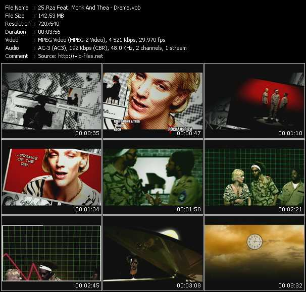 Rza Feat. Monk And Thea HQ Videoclip «Drama»