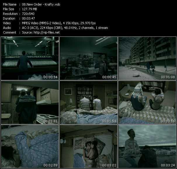 New Order HQ Videoclip «Krafty»