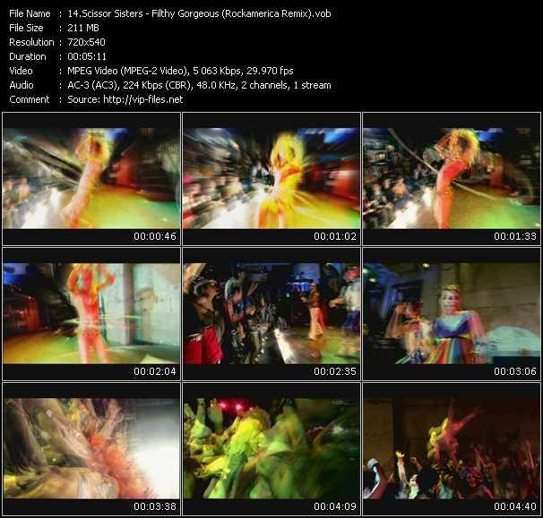 Scissor Sisters HQ Videoclip «Filthy Gorgeous (Rockamerica Remix)»
