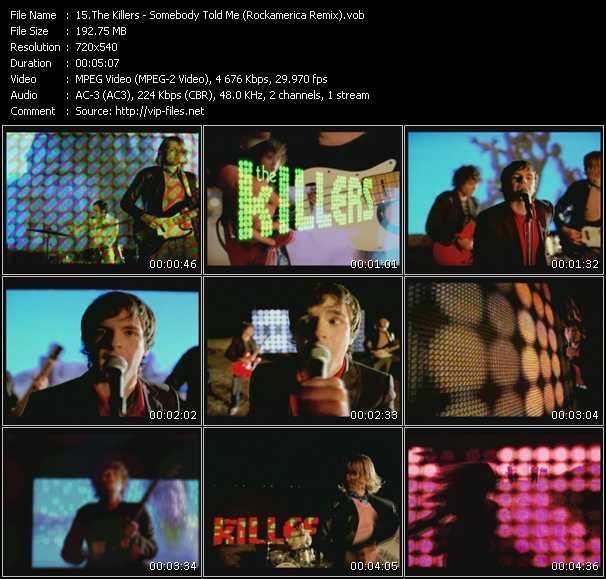 Killers HQ Videoclip «Somebody Told Me (Rockamerica Remix)»