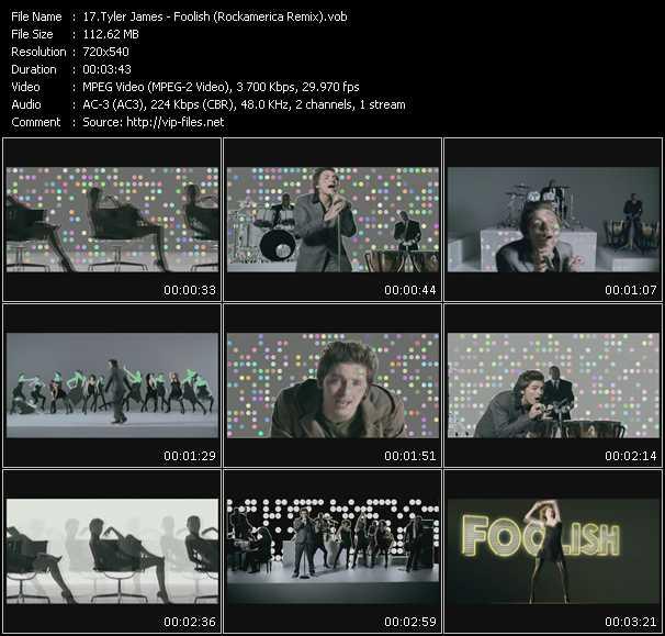 Tyler James HQ Videoclip «Foolish (Rockamerica Remix)»