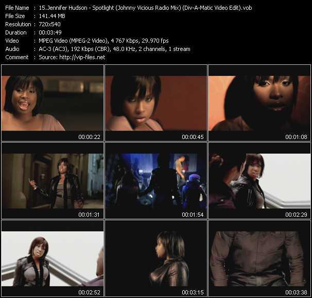 Jennifer Hudson HQ Videoclip «Spotlight (Johnny Vicious Radio Mix) (Div-A-Matic Video Edit)»