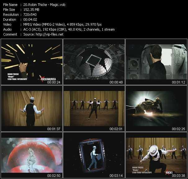 Robin Thicke HQ Videoclip «Magic»