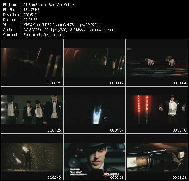 Sam Sparro HQ Videoclip «Black And Gold»
