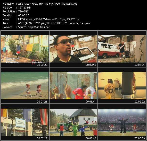 Shaggy Feat. Trix And Flix HQ Videoclip «Feel The Rush»