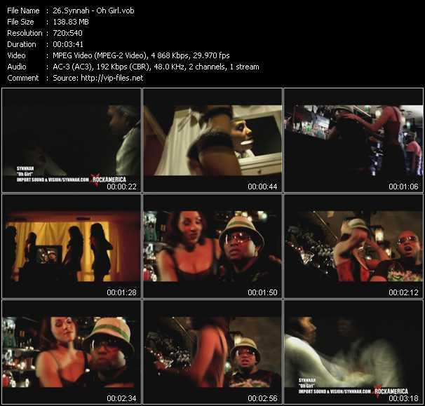 Synnnah HQ Videoclip «Oh Girl»