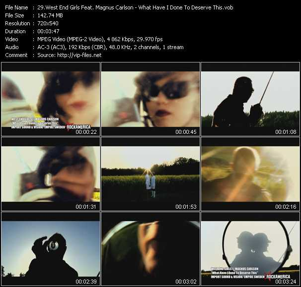 West End Girls Feat. Magnus Carlson HQ Videoclip «What Have I Done To Deserve This?»