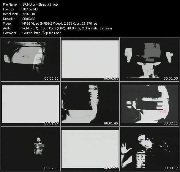 Motor HQ Videoclip «Bleep Number 1»