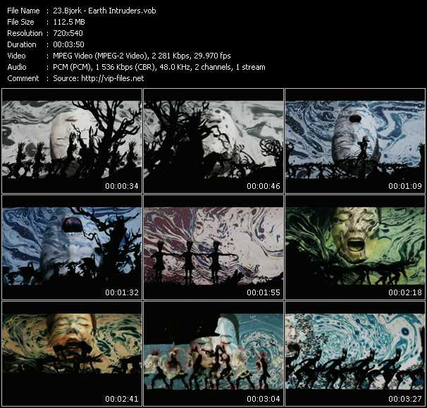 Bjork HQ Videoclip «Earth Intruders»