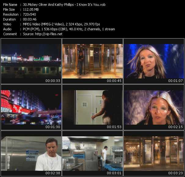 Mickey Oliver And Kathy Phillips HQ Videoclip «I Know It's You»