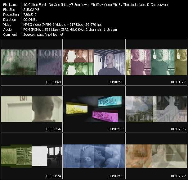 Colton Ford HQ Videoclip «No One (Matty'S Soulflower Mix) (Isv Video Mix By The Undeniable D.Gauss)»