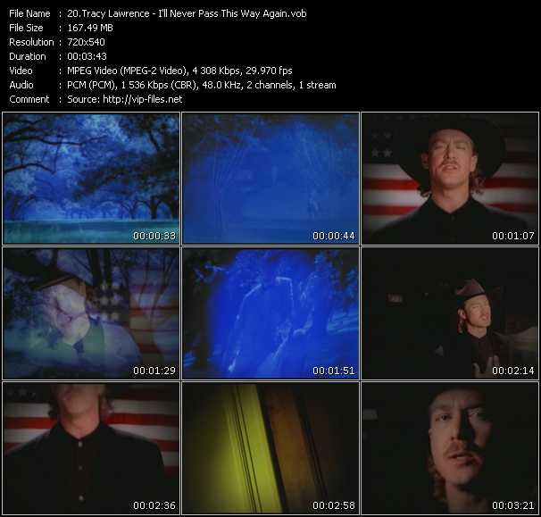 Tracy Lawrence HQ Videoclip «I'll Never Pass This Way Again»