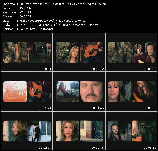 Patty Loveless Feat. Travis Tritt HQ Videoclip «Out Of Control Raging Fire»