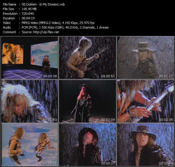 Dokken HQ Videoclip «In My Dreams»
