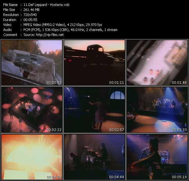Def Leppard HQ Videoclip «Hysteria»