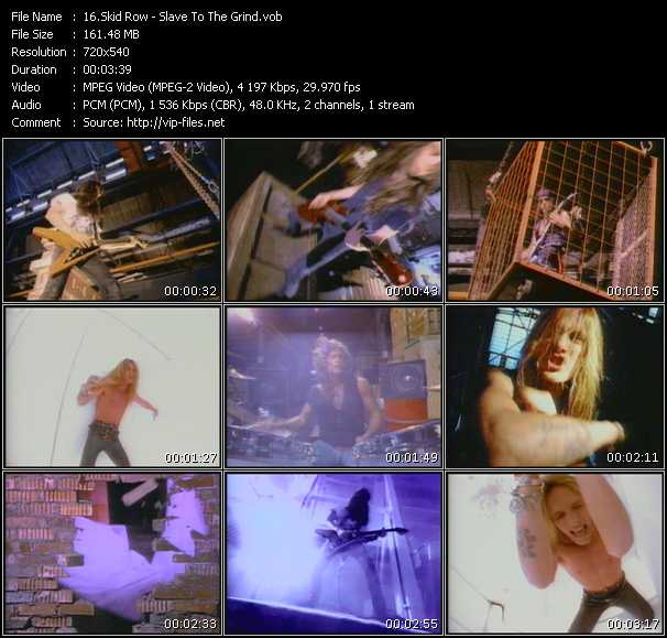 Skid Row HQ Videoclip «Slave To The Grind»