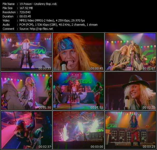 Poison HQ Videoclip «Unskinny Bop»