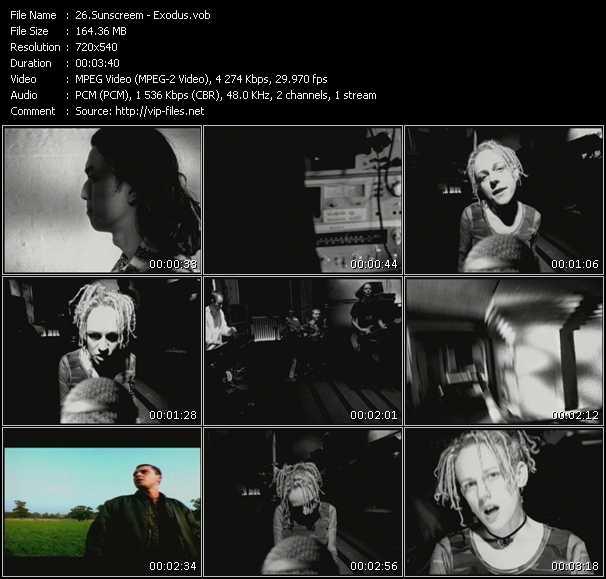 Sunscreem video - Exodus
