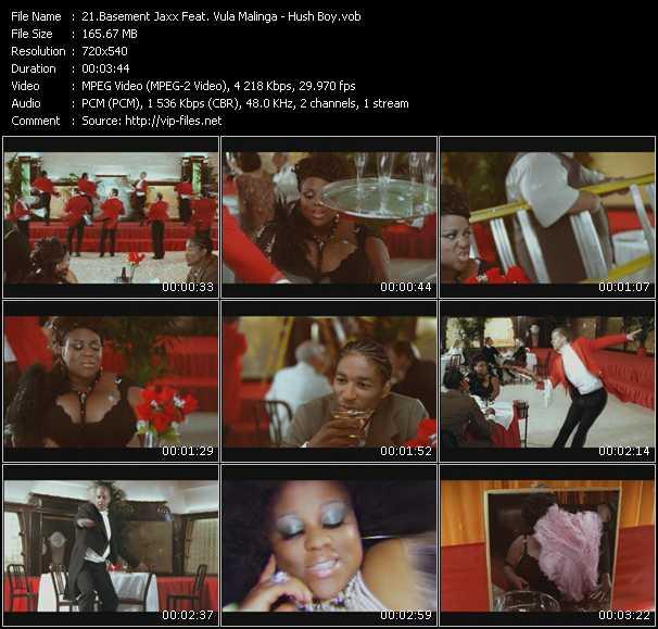 Basement Jaxx Feat. Vula Malinga HQ Videoclip «Hush Boy»