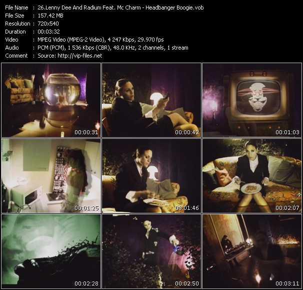 Lenny Dee And Radium Feat. Mc Charm HQ Videoclip «Headbanger Boogie»