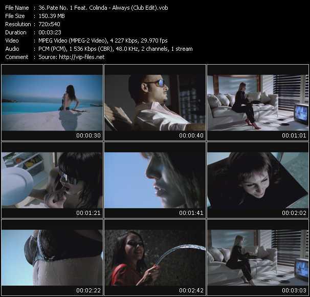 Pate No. 1 Feat. Colinda HQ Videoclip «Always (Club Edit)»