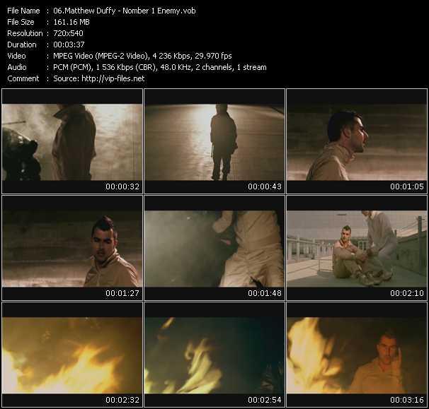 Matthew Duffy HQ Videoclip «Nomber 1 Enemy»
