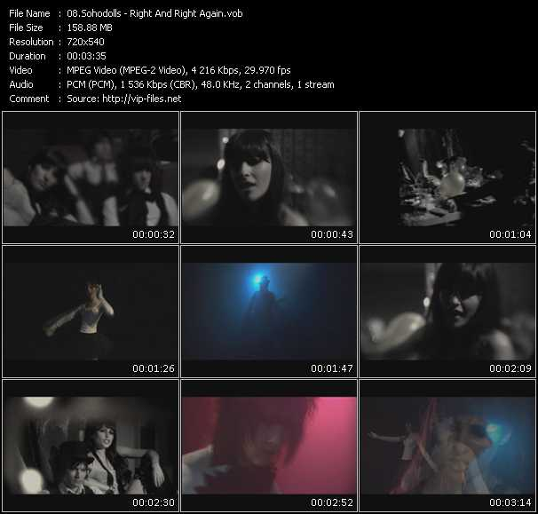 Sohodolls HQ Videoclip «Right And Right Again»