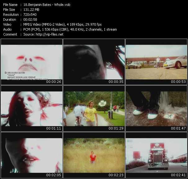 Benjamin Bates HQ Videoclip «Whole»