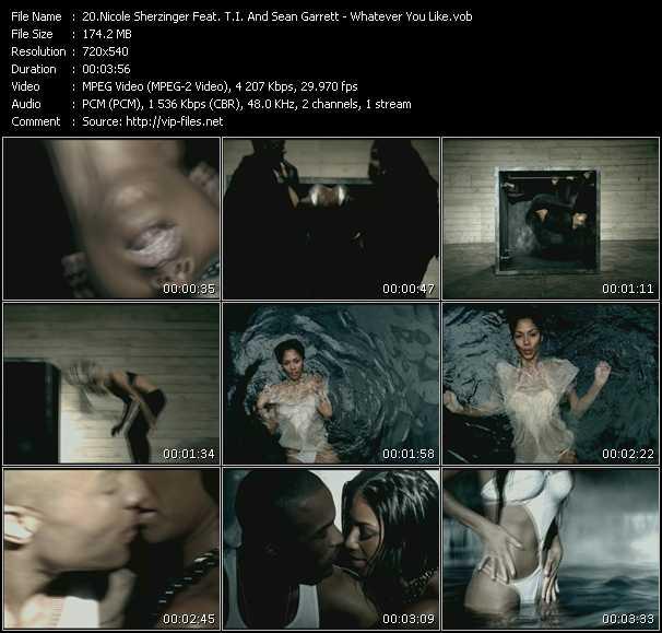 Nicole Scherzinger Feat. T.I. And Sean Garrett HQ Videoclip «Whatever You Like»