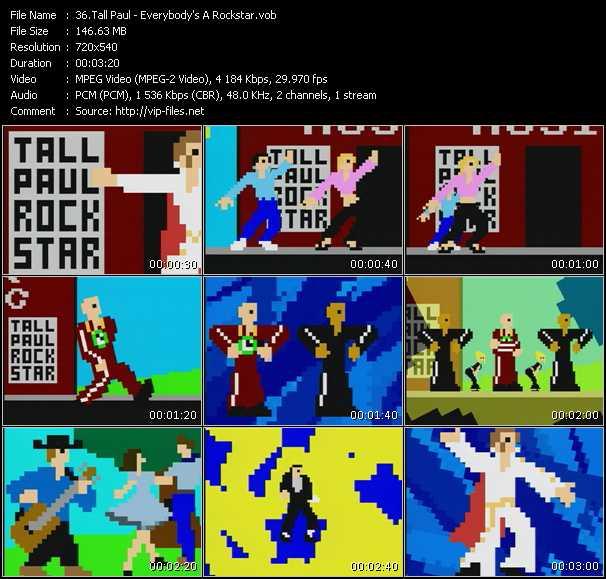 Tall Paul HQ Videoclip «Everybody's A Rockstar»