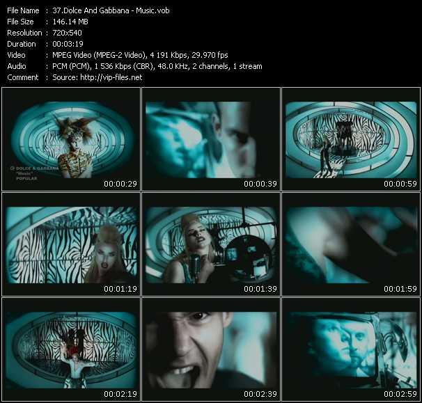 Dolce And Gabbana HQ Videoclip «Music»