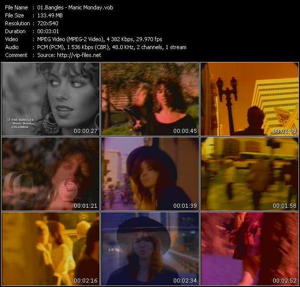 Bangles video - Manic Monday