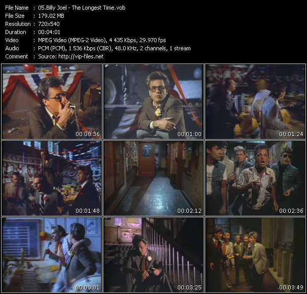 Billy Joel HQ Videoclip «The Longest Time»