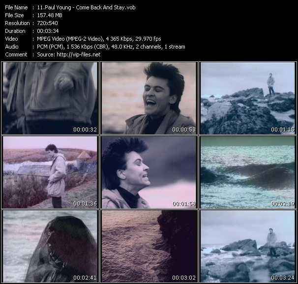 Paul Young HQ Videoclip «Come Back And Stay»