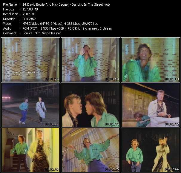 David Bowie And Mick Jagger HQ Videoclip «Dancing In The Street»