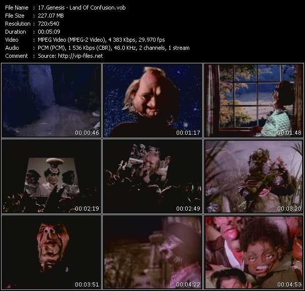 Genesis HQ Videoclip «Land Of Confusion»