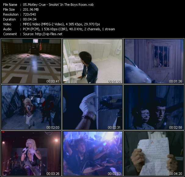 Motley Crue HQ Videoclip «Smokin' In The Boys Room»