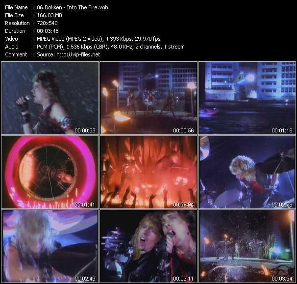 Dokken HQ Videoclip «Into The Fire»