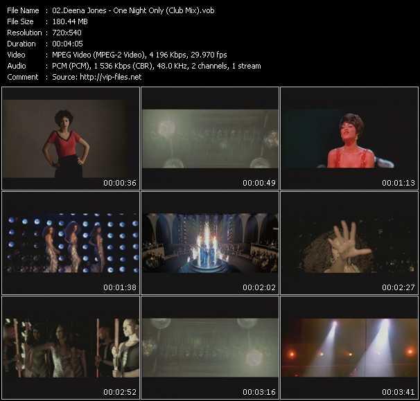 Deena Jones HQ Videoclip «One Night Only (Club Mix)»