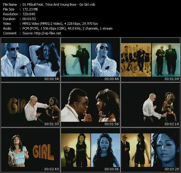 Pitbull Feat. Trina And Young Boss HQ Videoclip «Go Girl»